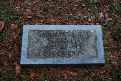 Margaret Ellis Sherrill Tombstone<br>Due West A.R.P. Church Cemetery Photo, Click for full size