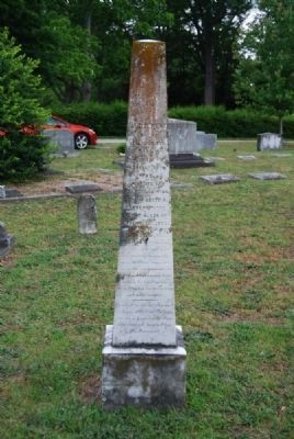 David M West Tombstone<br>Due West A.R.P. Church Cemetery Photo, Click for full size