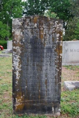 S.B. McClurken Tombstone<br>Due West A.R.P. Church Cemetery<br>Carved by T.H. White Photo, Click for full size
