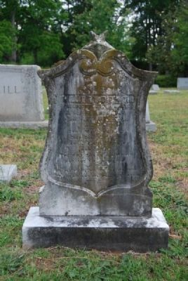 Willie H. Dickson Tombstone<br>Due West A.R.P. Church Cemetery Photo, Click for full size