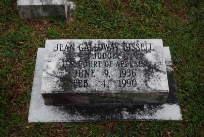 Judge Jean Galloway Bissell Tombstone<br>Due West A.R.P. Church Cemetery Photo, Click for full size