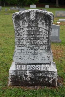 Rev. Ebenezer Erskine Pressly Tombstone<br>Due West A.R.P. Church Cemetery Photo, Click for full size
