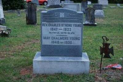 Rev. Charles Strong & May Chalmers Young Tombstone<br>Due West A.R.P. Church Cemetery Photo, Click for full size