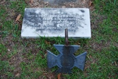Enoch Washington Pruitt Tombstone<br>Due West A.R.P. Church Cemetery Photo, Click for full size
