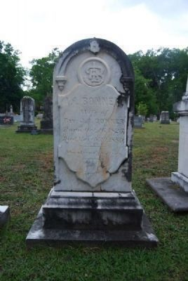 A.L. Bonner Tombstone<br>Due West A.R.P. Church Cemetery Photo, Click for full size