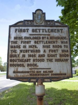 First Settlement Marker Photo, Click for full size