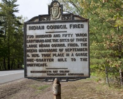 Indian Council Fires Marker image. Click for full size.