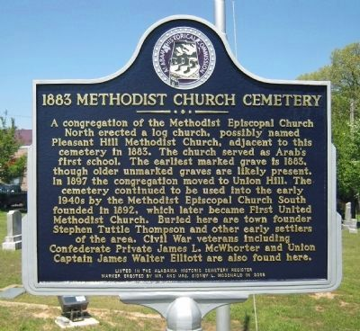 1883 Methodist Church Cemetery Marker image. Click for full size.