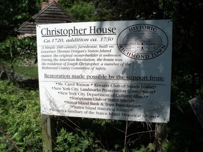 Christopher House Marker image. Click for full size.