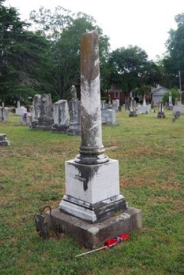 Winfield W & A. Poinsett Lindsay Tombstone<br>Due West A.R.P. Church Cemetery<br>East Corner Photo, Click for full size