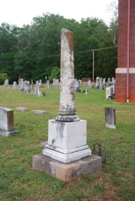 Winfield W & A. Poinsett Lindsay Tombstone<br>Due West A.R.P. Church Cemetery<br>West Corner Photo, Click for full size