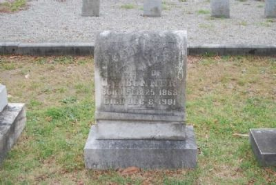 Belle Neel Tombstone<br>Due West A.R.P. Church Cemetery Photo, Click for full size