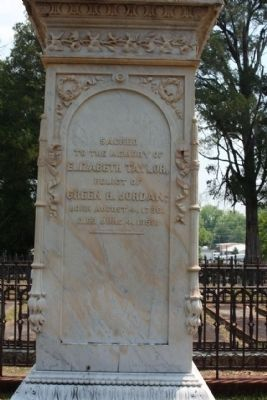 Memory Hill Cemetery,Elizabeth Taylor Jordan image. Click for full size.