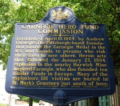 Carnegie Hero Fund Commission Marker Photo, Click for full size