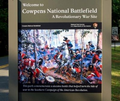 Welcome to Cowpens National Battlefield Marker image. Click for full size.