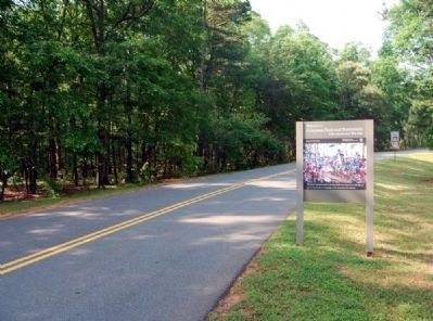 Welcome to Cowpens National Battlefield Marker -<br>Looking South Along Piedmont Road image. Click for full size.