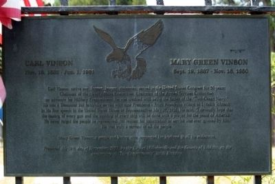 Carl Vinson � Mary Green Vinson Marker image. Click for full size.