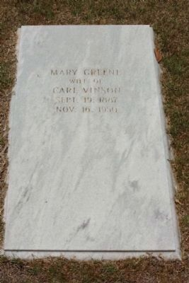 Mary Green Vinson Grave image. Click for full size.