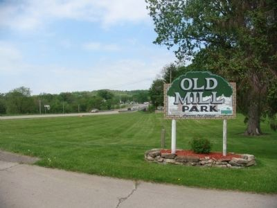 Sign at entrance to Old Mill Park image. Click for full size.