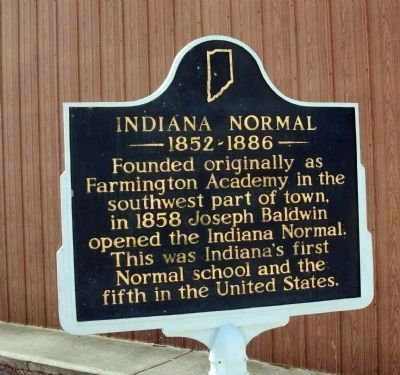 Indiana Normal Marker image. Click for full size.