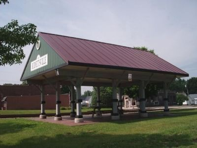 Other View - - Burnettsville, Indiana - Train Depot image. Click for full size.