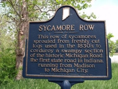 Sycamore Row Marker image. Click for full size.