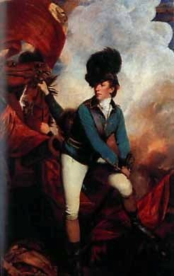 Lt. Col. Sir Banastre Tarleton, 1st Baronet (1754&#8211;1833) -<br>Commander of British Forces at Cowpens image. Click for full size.