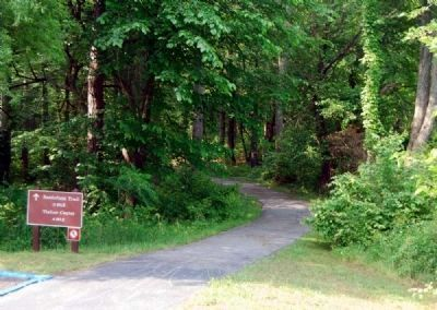 Walking Trail Leading from Marker to<br>Battlefield and Visitors Center image. Click for full size.