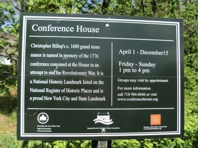 Conference House Marker image. Click for full size.