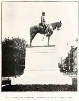 Battle of Hanover Monument in 1905 Photo, Click for full size