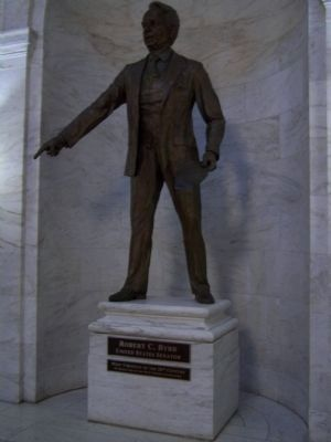 State Capitol, Senator Robert C. Byrd image. Click for full size.