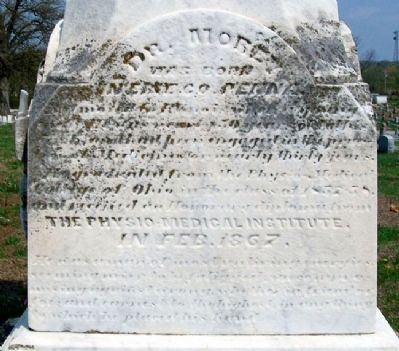John F. Morey, M.D. Monument image. Click for full size.