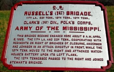 Russell's Brigade Marker image. Click for full size.