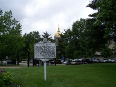 State Capitol and Marker, seen westside at grounds image. Click for full size.