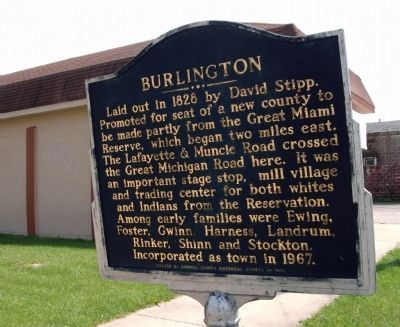 Obverse View - - Burlington Marker image. Click for full size.