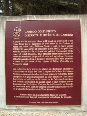 Cariboo Gold Fields Marker image. Click for full size.