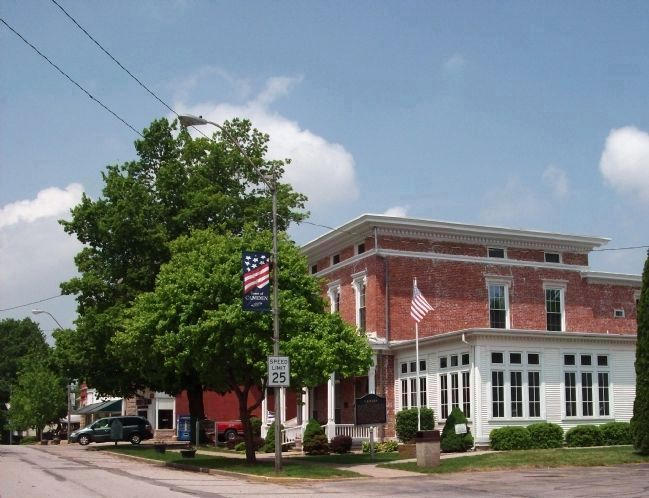 """Camden Public Library"" & Camden / Jackson Township Marker image. Click for full size."