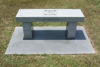USS Pollack Memorial Bench Photo, Click for full size