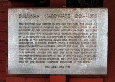 Sullivan Hardware Co. -- 1875 Marker image. Click for full size.