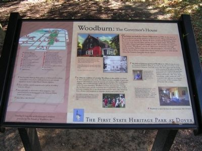 Woodburn: The Governor's House Marker image. Click for full size.
