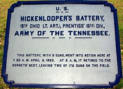 Hickenlooper's Battery Marker image. Click for full size.