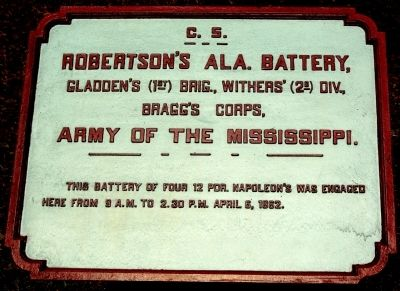 Robertson's Alabama Battery Marker image. Click for full size.