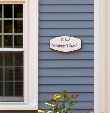 Sign on William Vinal House image. Click for full size.