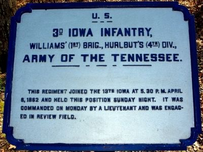 3rd Iowa Infantry Marker image. Click for full size.