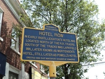 Hotel Row Marker image. Click for full size.