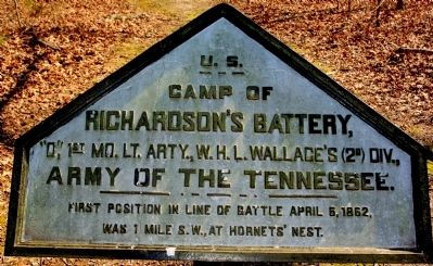 Camp of Richardson's Battery Marker image. Click for full size.