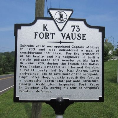 Fort Vause Marker image. Click for full size.