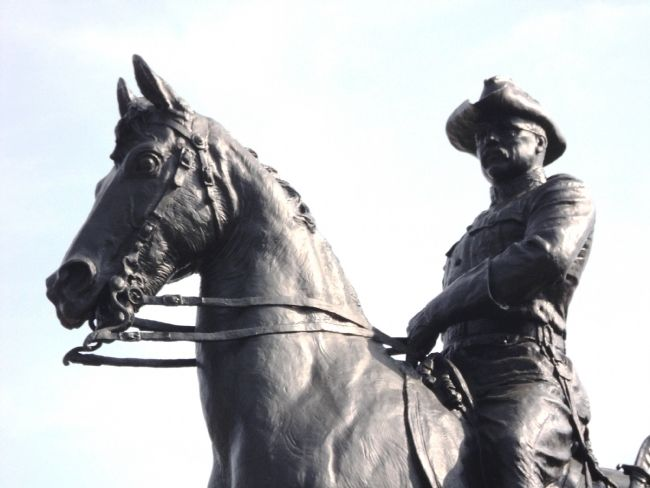 Closeup of Theodore Roosevelt Statue image. Click for full size.