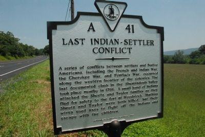 Last Indian-Settler Conflict Marker image. Click for full size.