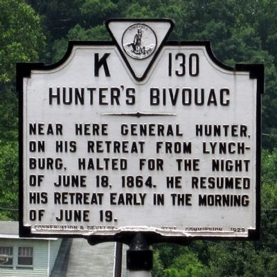 Hunter's Bivouac Marker image. Click for full size.